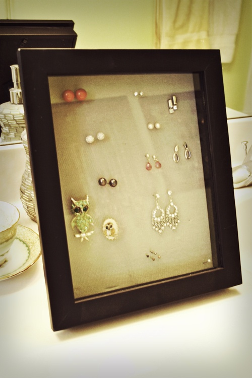 diy jewelry shadow box