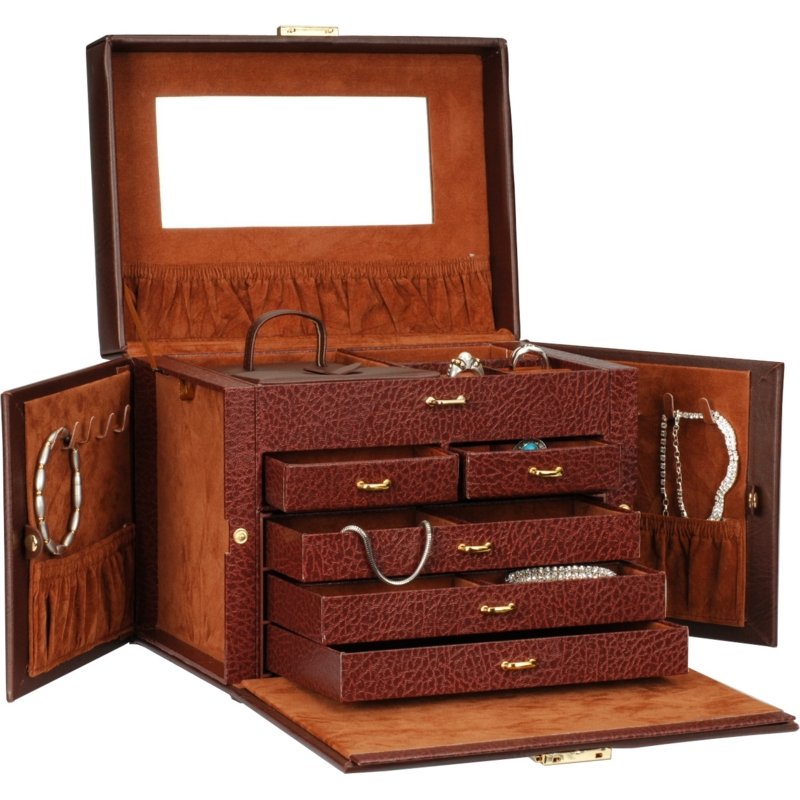 Brown jewelry boxes