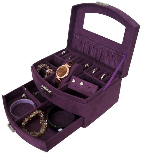 cheap jewelry box with lock and key