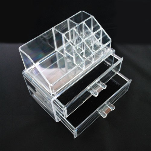 clear jewelry organizer box