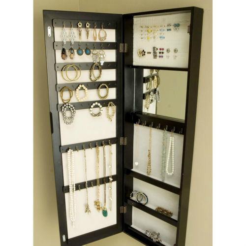 door hanging mirror jewelry box