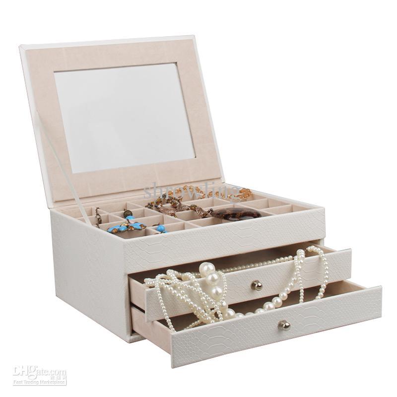 extra large leather jewelry box