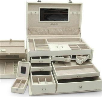 extra large white jewelry box