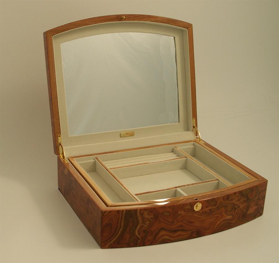 extra large wood jewelry box