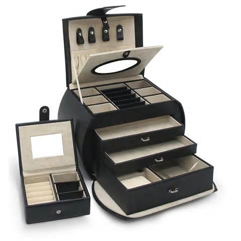 modern espresso jewelry box