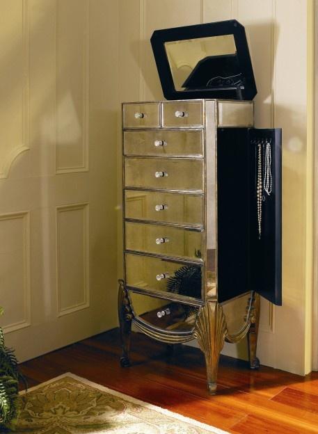 savoy tall jewelry armoire