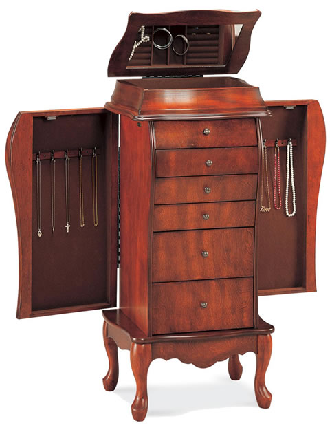 solid wood jewelry armoire sale