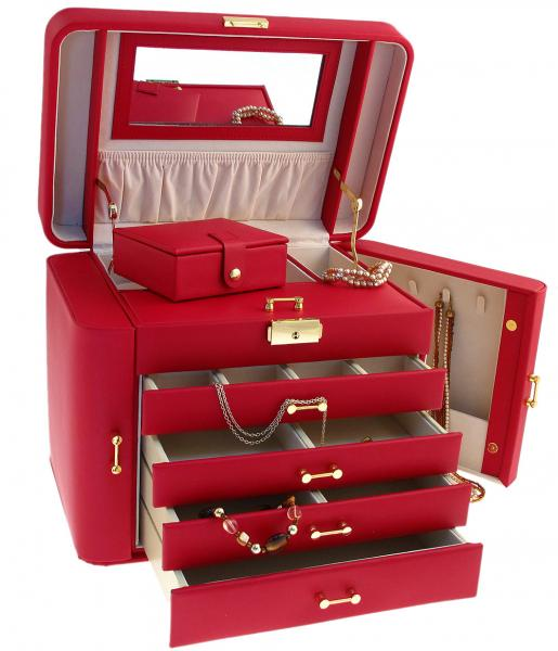 stackers jewellery box red