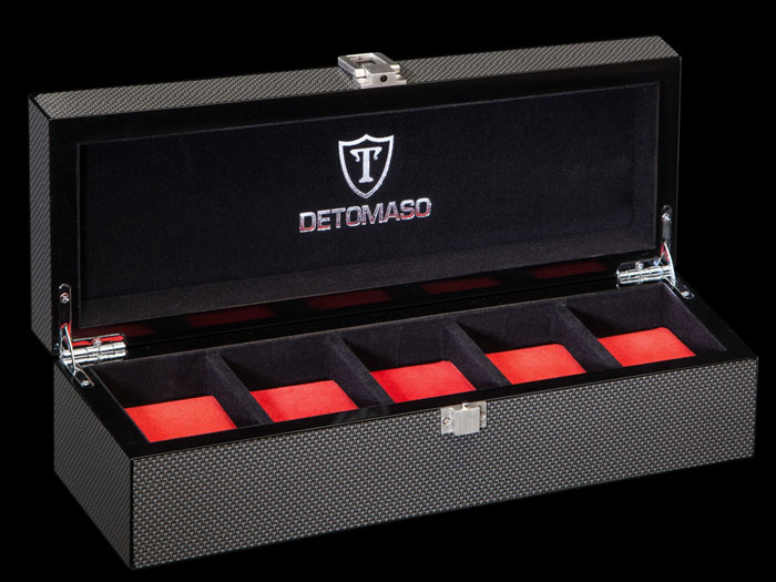 5 watch box Detomaso