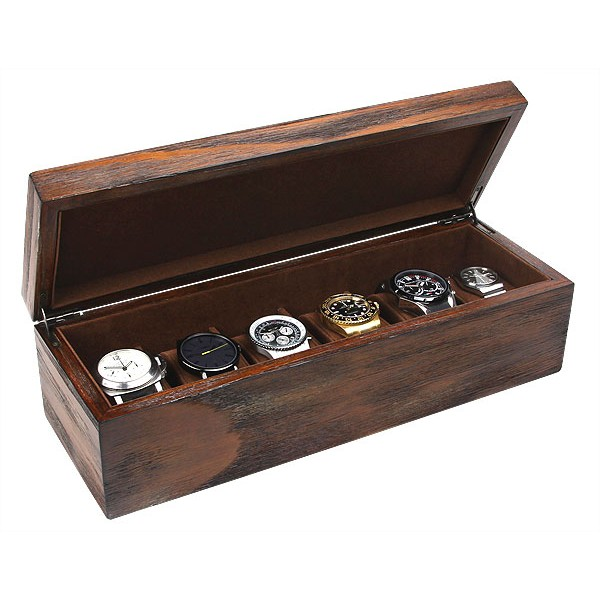 6 watch box wood
