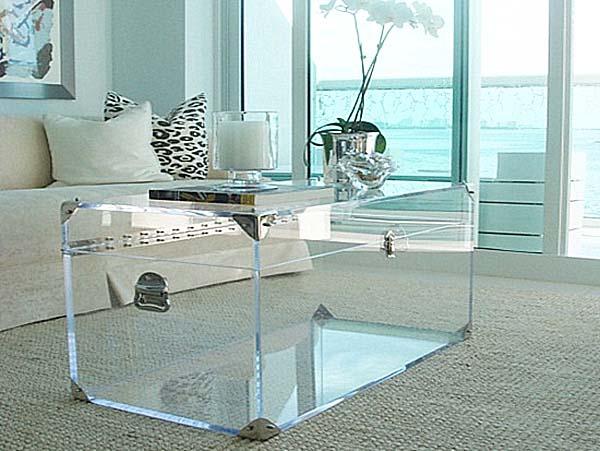 Acrylic coffee table amazon