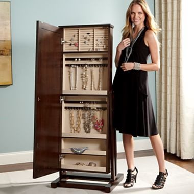 Cheval mirror jewelry armoire jcpenney