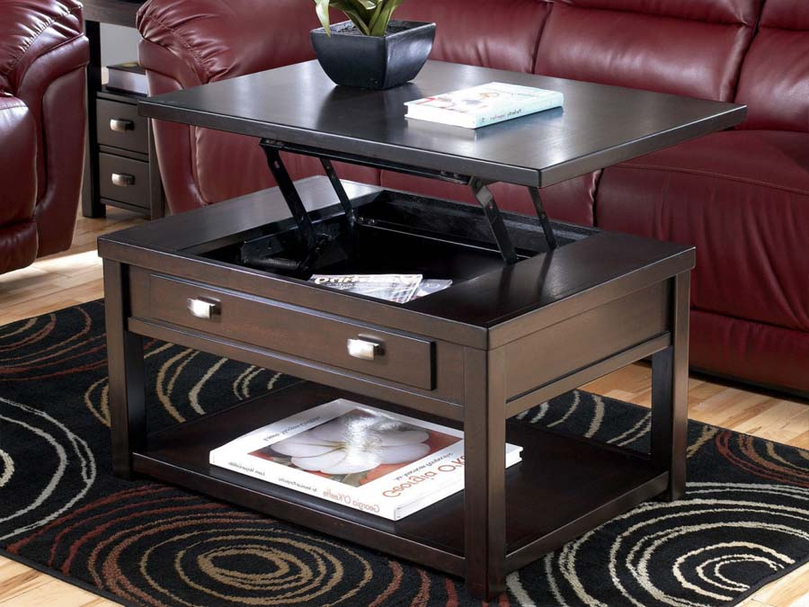 Contemporary lift top coffee table