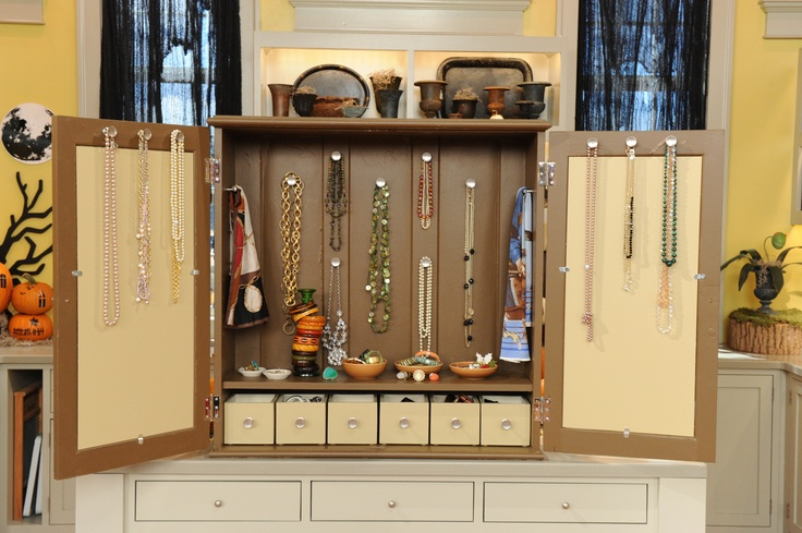 Jewelry cabinet hardware