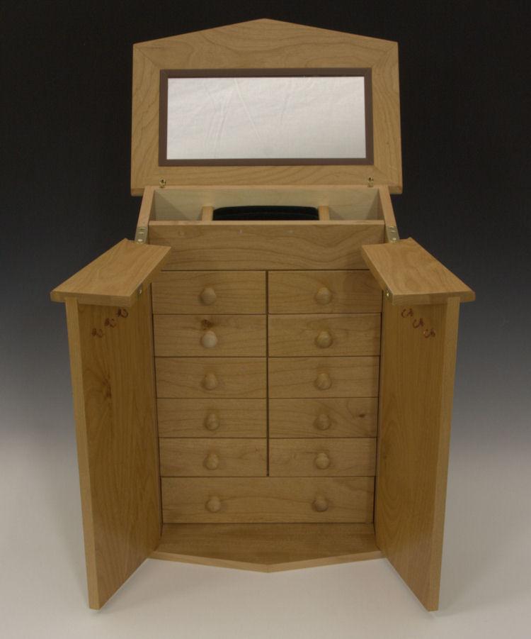 Jewelry cabinet hooks