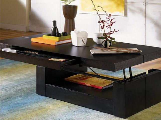 Lift top coffee table black