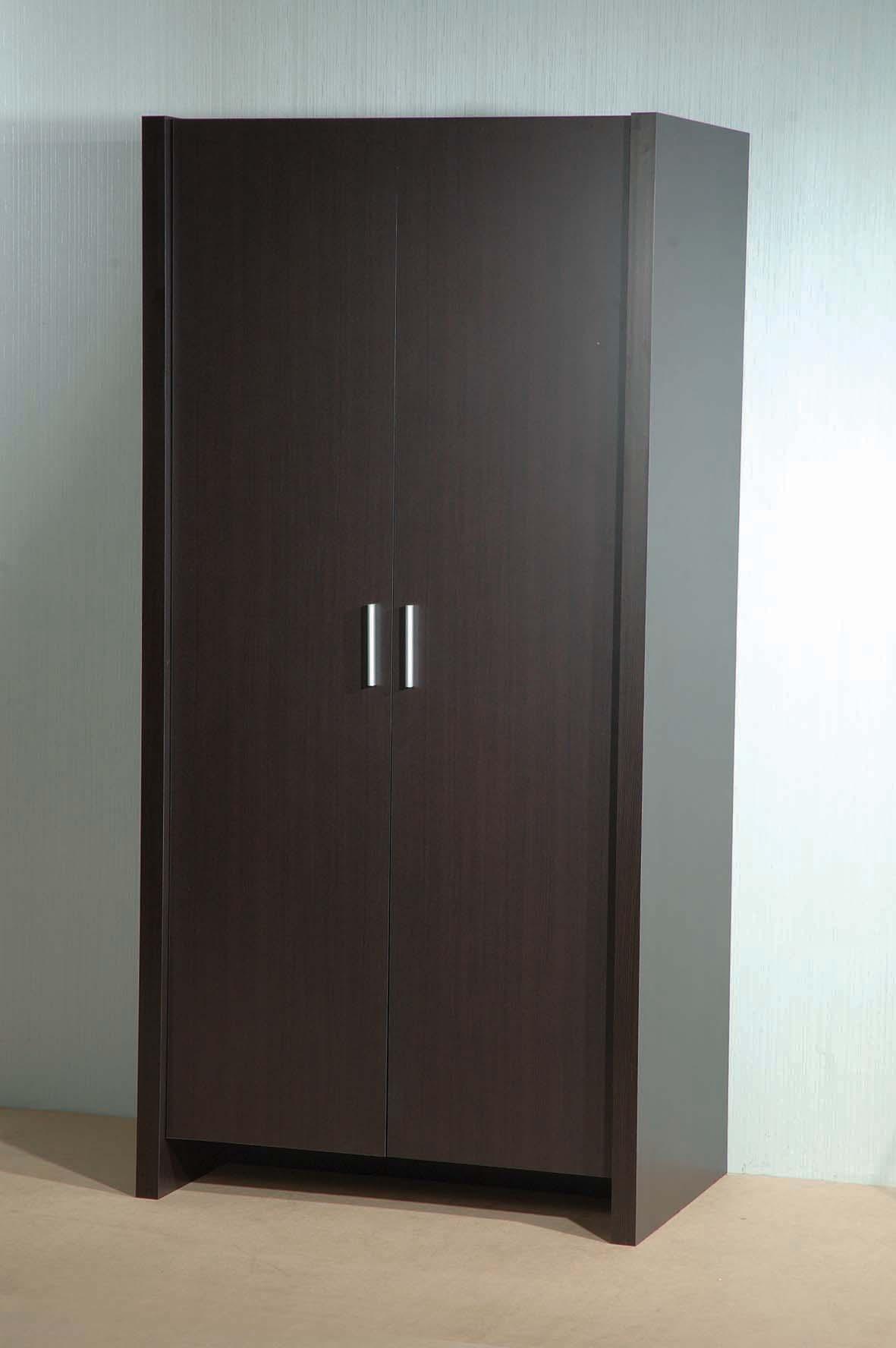 2 door metal wardrobe closet