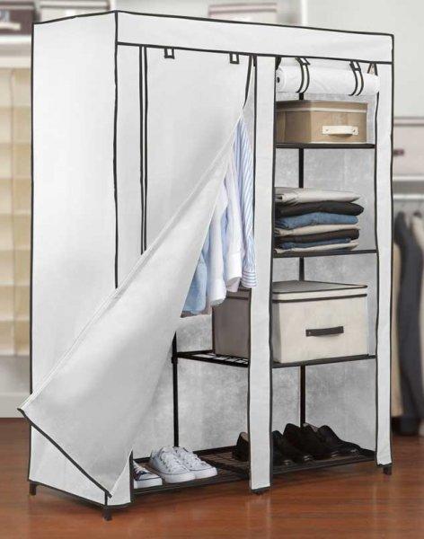 48 portable closet with shelves