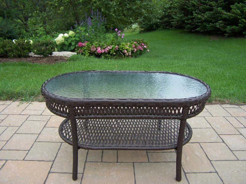 All weather wicker coffee table