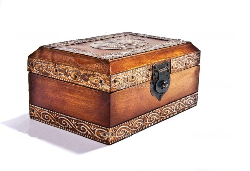 Antique wooden jewelry box for sale