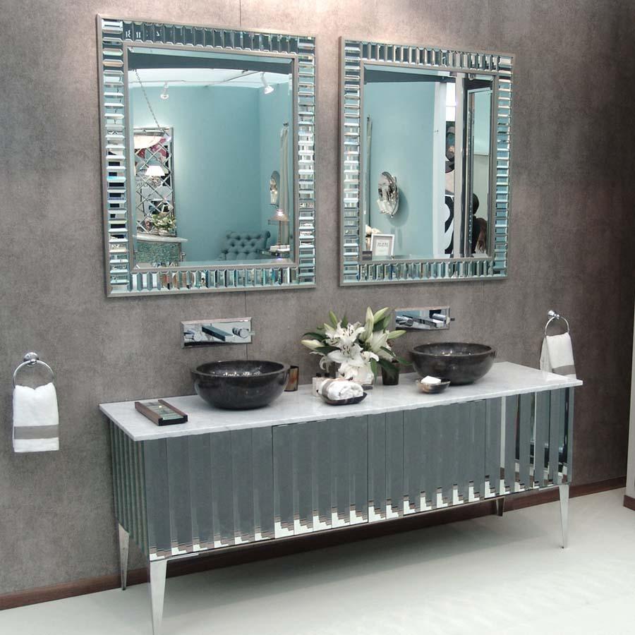 Bathroom vanity units with mirror