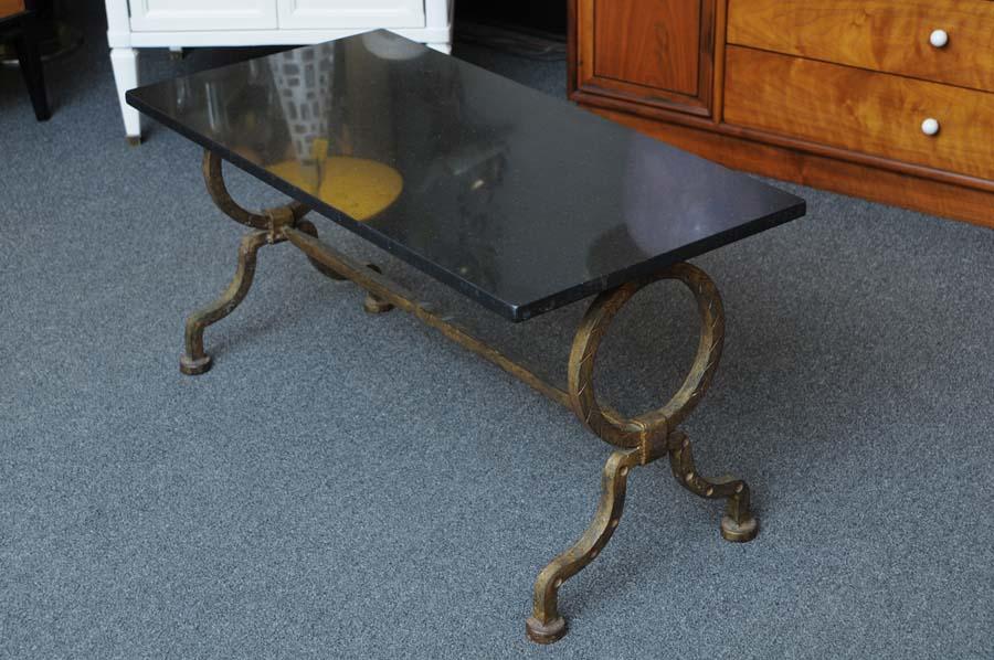 Black granite top coffee table