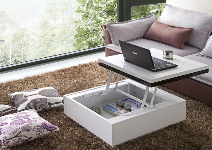 Coffee table tv tray combo