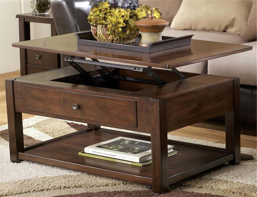 Coffee table tv tray