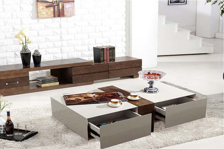 Coffee table with drawers ebay