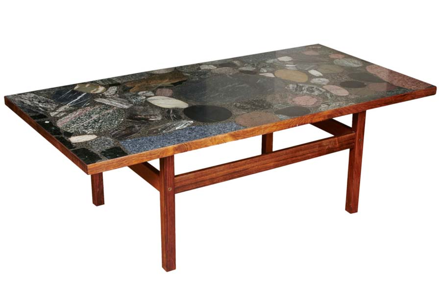 Coffee table with granite top