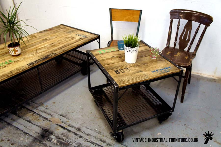 Industrial vintage coffee table
