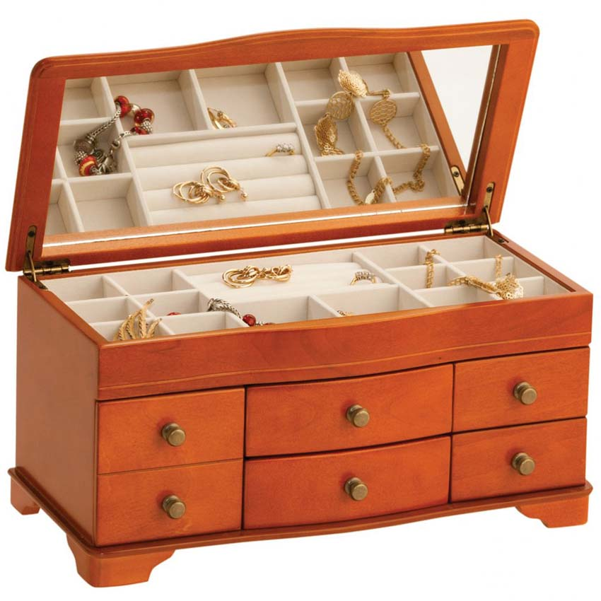 Mele josephine wooden jewelry box