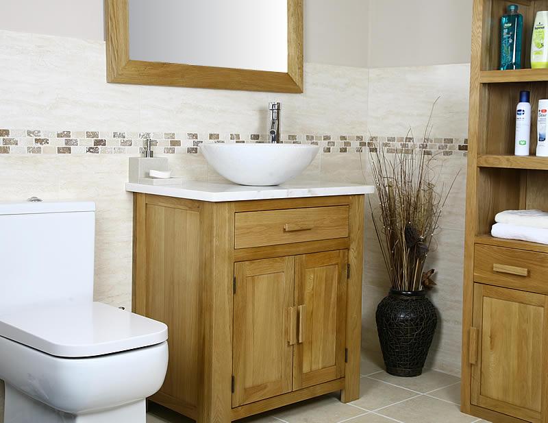 Oak bathroom vanity units uk