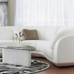 : affordable white couches