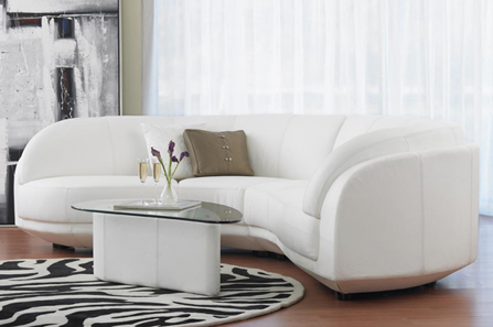 Affordable White Couches