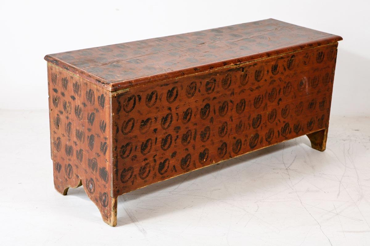 antique bench with storage