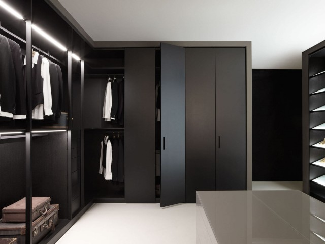 bedroom wardrobe closet black storage