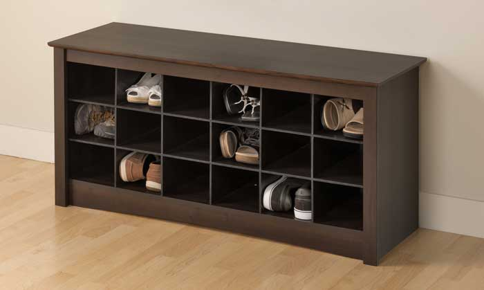 bench shoe rack storage