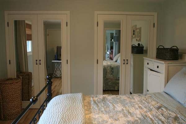 bifold closet doors repurposed