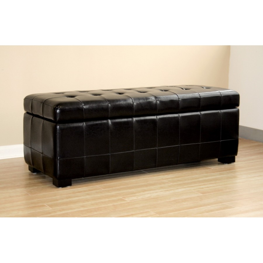 black bench storage ottoman