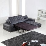 : black leather pull out loveseat