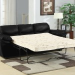 : black leather sleeper sofa queen