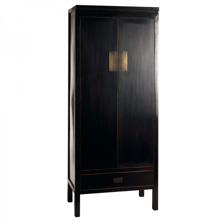 black wardrobe storage cabinet