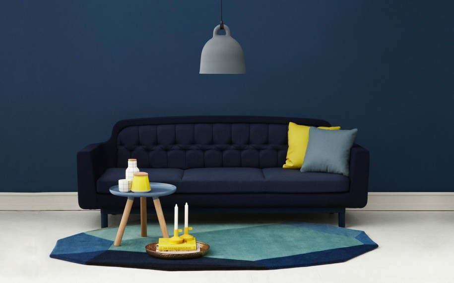 blue couch and loveseat