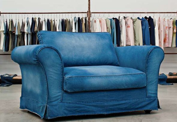 Blue Jean Couch For Sale