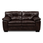 : brown bonded leather sofa bed and loveseat set
