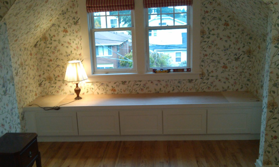 build a window bench seat with storage