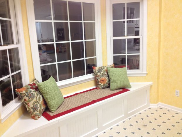 build a window bench with storage