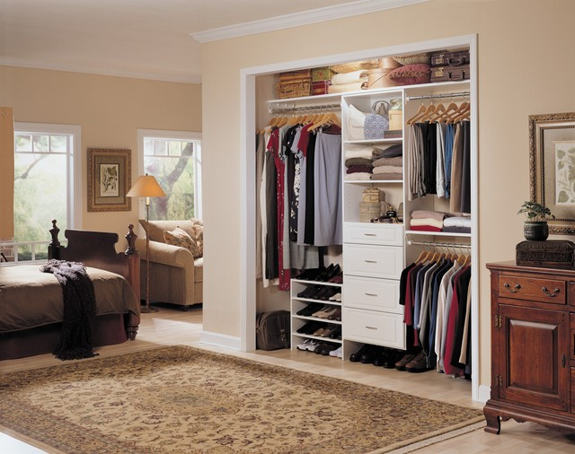 built in bedroom closet systems