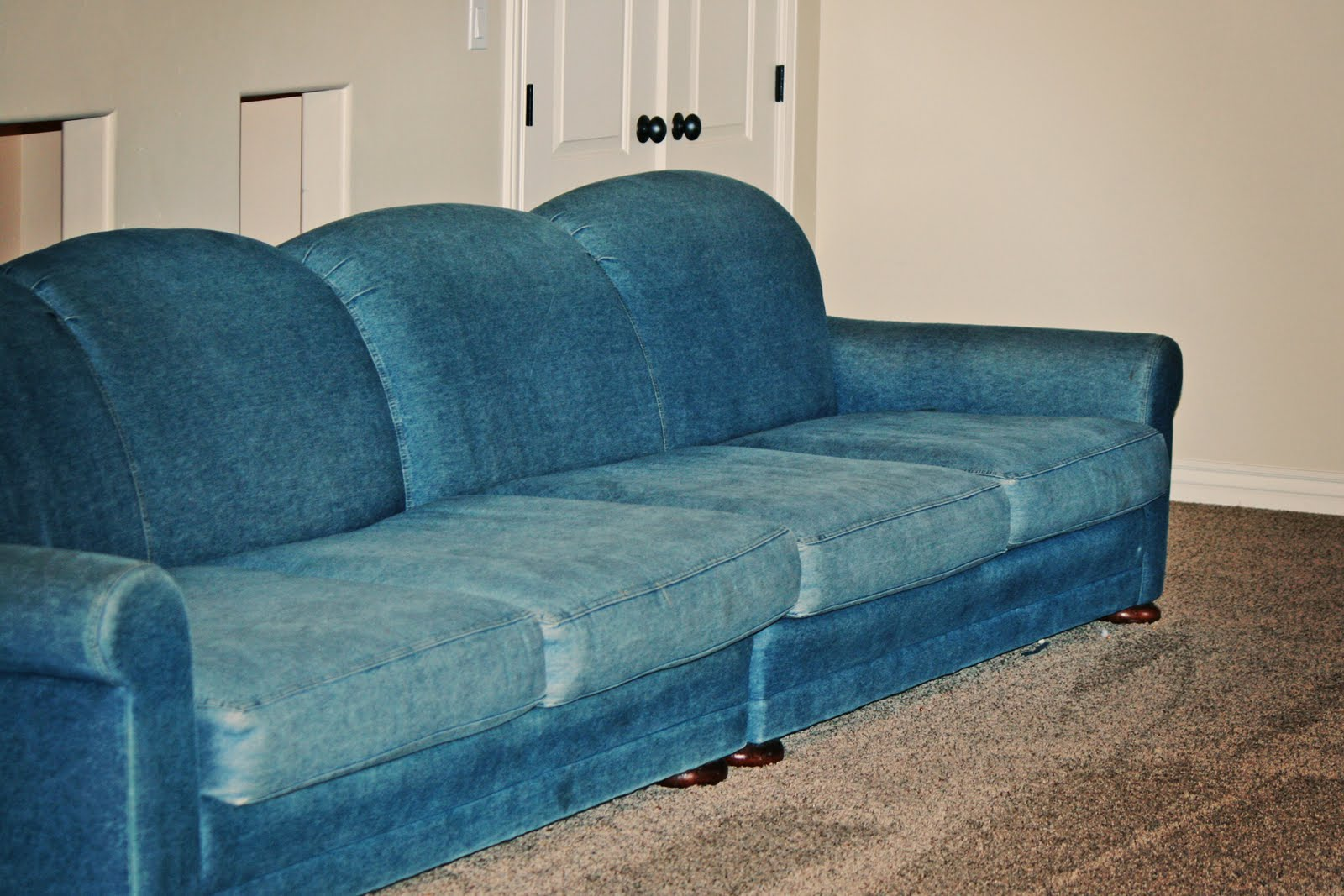 Denim sofa ikea Denim loveseat